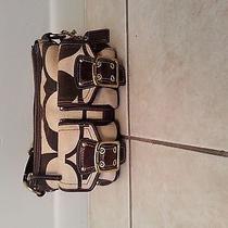Brown and Beige Coach Small Bag Photo
