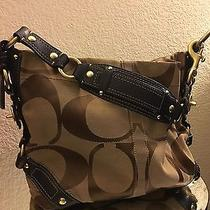 Brown and Tan Coach Handbag Photo