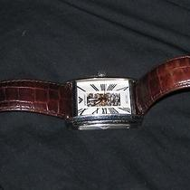 Brown Armani Watch for Men With Genuine Leather Photo