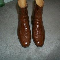 Brown Bally Alligator Zip Up Boots  Size 8 Photo