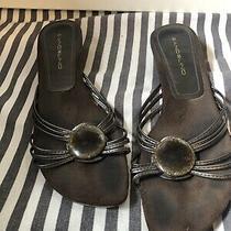 Brown Bandolino Sandal W Kitten Heel Size 8.5 Photo
