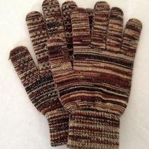Brown Beige Black Osfa Driving Traction Winter Fall Stretch Knit Gloves Photo