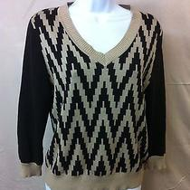 Brown Beige l.a.m.b Gwen Stefani Womens Ladies Knit Shirt Sweater Sz L. Cashmere Photo