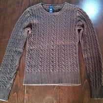 Brown Cable-Knit Gap Sweater Xs Photo