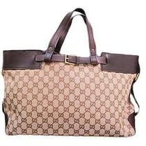 Brown Canvas Hand Bag Photo
