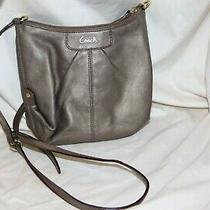Brown Coach Crossbody Leather Handbag Small Purse Zipper Photo