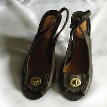 Brown Coach Open Toe Slingback Sandals Shoes Size 8.5 B  Photo