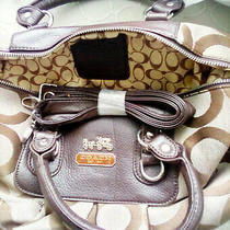 Brown Coach Signature Handbag Photo