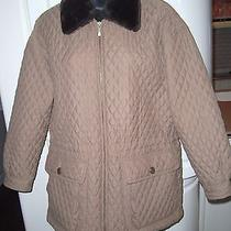 Brown Cognac Jacket Quilted by Express - Size Xs Photo