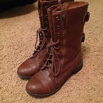 Brown Combat Boots - 8.5 - Urban Outfitters/forever 21 Style Photo