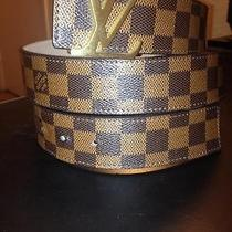 Brown Damier Louis Vuitton Belt  Photo
