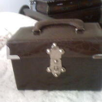 Brown Faux Croc Box Handbag Photo