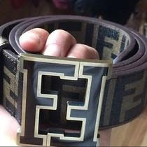 Brown Fendi College Belt Size 46/115 Photo