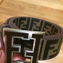 Brown Fendi College Belt Size 46/115 Photo