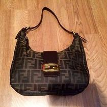 Brown Fendi Logo Purse Handbag in Excellent Condition Photo