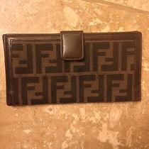 Brown Fendi Wallet Authentic Photo