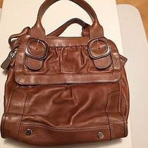 Brown Fossil Fifty Four Leather Luxury Handbag Photo