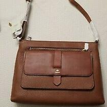 Brown Fossil Leather Handbag Women New Perfect Gift Item Photo