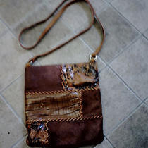 Brown Fossil Patchwork Handbag Photo