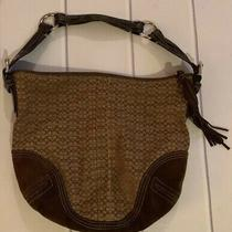 Brown Fringe Leather Coach Purse  Photo
