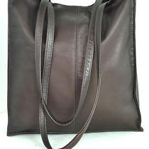 Brown Genuine Leather Tote / Shoulder Large Computer Bag Made in Columbia Photo