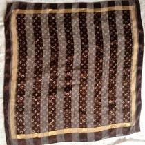 Brown Gold Louis Vuitton Scarf Vintage Photo