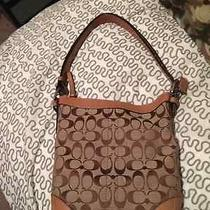 Brown/khaki Cloth Coach Satchel Photo