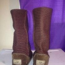 Brown Knit Uggs Photo
