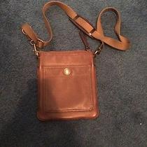 Brown Leather Coach Crossbody Photo