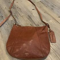 Brown Leather Fossil Purse in Good Condition Photo