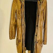 Brown Leather Parker Coat Size 10 Photo