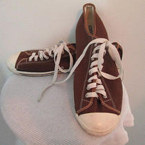 Brown Low Top Converse Sneakers - Womens 11 - Mens 9  Photo