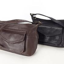 Brown Medium and Black Medium Fossil Leather Satchel Shoulder Bag Purse Photo