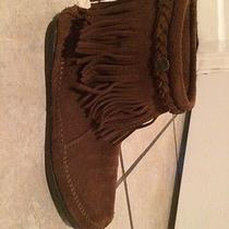 Brown Minnetonka Moccasin Boots Photo