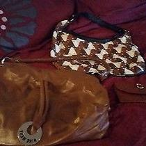 Brown Nine West Purse Pattern Brown Purse and Brown Wallet Photo