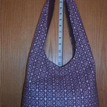 Brown Pink Diamond Shape Fabric Design Hobo Bag U108 Photo