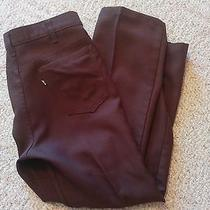 Brown  Polyester Levis  517 Pants  34 X 30  Good Condition Measure 33 X 29 141 Photo