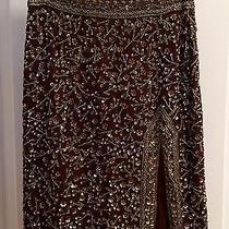 Brown Sequin Escada Skirt Photo