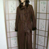 Brown Shearling Sheepskin Coat Women Showroom Item Photo
