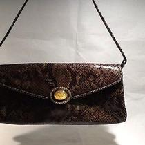 Brown Snake Leather Bag Photo