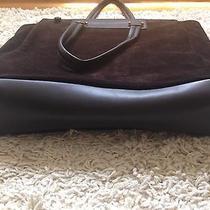 Brown Suede Bally Computer Bag Photo