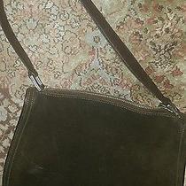 Brown Suede Coach Handbag  Photo