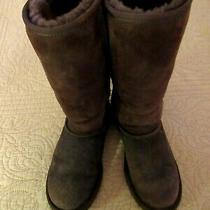 Brown Suede Ugg Boots Full Shearling Lining Usa Size 5 Photo