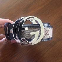 Brown Trim Monogram Gucci Belt Fits 42-44 Men Photo