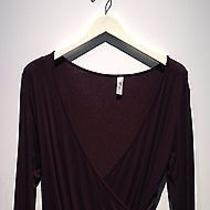 Brown Wrap Top by Backstage Photo