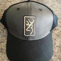 Browning Hudson Brown With Black Mesh Trucker Hat Baseball Cap New Photo