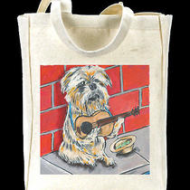 Brussels Griffon Street Musician Print on Shopping Bag Brussels Griffon Prints Photo
