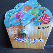 Bubblegum Cupcake Necklace W/ Swarovski Crystal Accent-Made in Usa  Photo