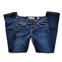 Buckle Bke Addison Crop Womens Sz 26 Dark Wash Low Rise Crop Jeans Actual 29x29 Photo