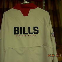 Buffalo Bills  Sideline Apparel Long Sleeve Light Jacket Large Like New Mint  Photo